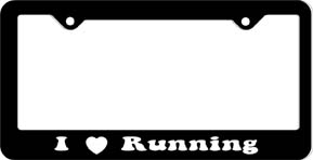 I ♥ Running License Plate Frame