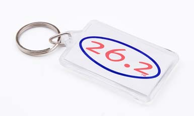 13.1 or 26.2 Oval Key Ring