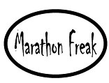 Marathon Freak Oval Car Magnet