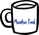 Marathon Freak Ceramic Coffee Mug - White