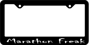 Marathon Freak License Plate Frame