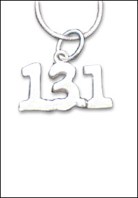Sterling Silver Necklace- With 13.1 floating charm