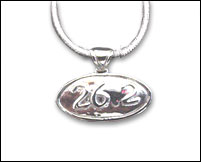 Sterling Silver Necklace- With 26.2 silver pendant disc