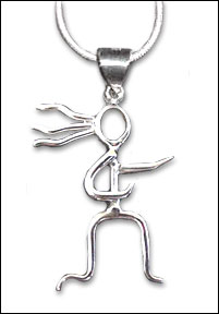 Sterling Silver Necklace - With RunnerGirl pendant