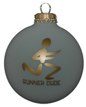 Runner Dude Christmas Ornament