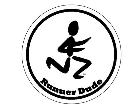 Runner Dude Round Sticker