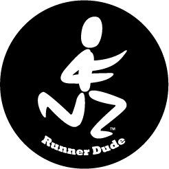 Runner Dude Round Color Sticker