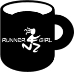 Runner Girl Ceramic Coffee Mug - Black