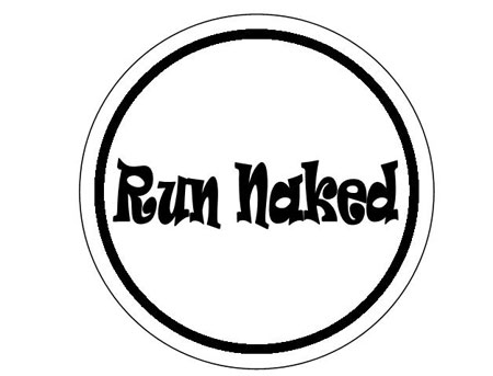 Run Naked Round Sticker