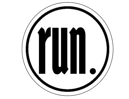 run. Round Sticker