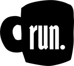 run. Ceramic Coffee Mug - Black