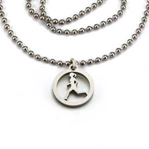 Running Gal Charm Necklace