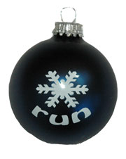 run with Large Snowflake Ornament