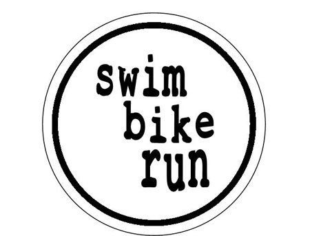swim bike run Round Sticker