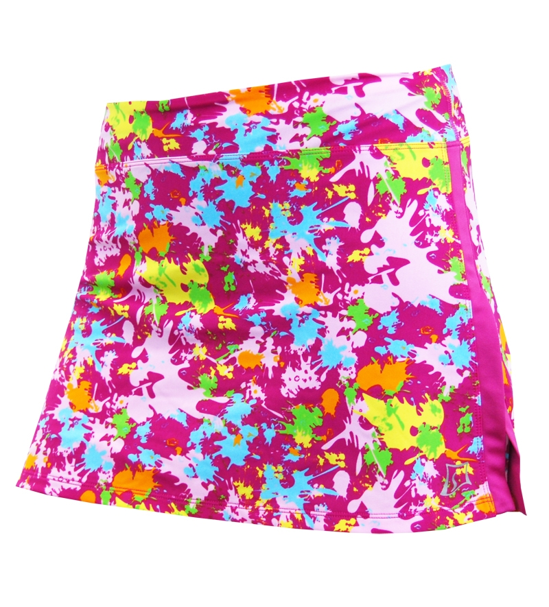 Skirt Sports Gym Girl Ultra Splatter Running Skirt