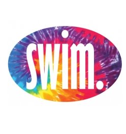 swim. Oval Magnet
