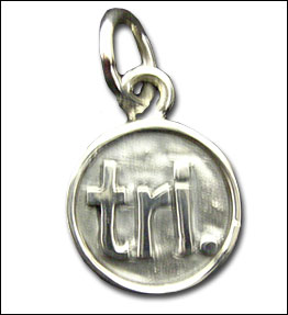 Sterling Silver Necklace - With tri. pendant