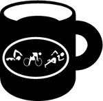 Tri Figures Ceramic Coffee Mug - Black