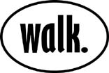 walk. Oval Decal