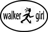 Walker Girl Oval Decal