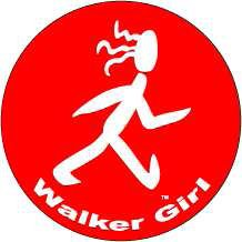 Walker Girl Round Color Sticker