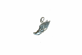 Sterling Silver Necklace - With Winged Foot charm/pendant